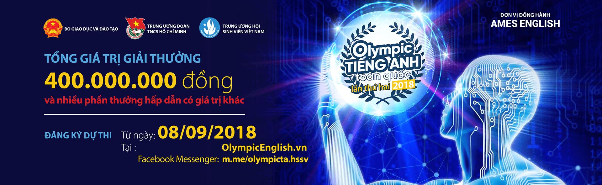 Đăng ký Olympic tiếng Anh toàn quốc 2018